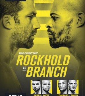 UFC Fight Night 116 Rockhold vs. Branch: Pittsburg, 16/09/2017