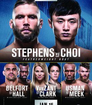 UFC Fight Night 124 Stephens vs. Choi: St. Louis, 14/01/2018