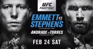 UFC on FOX 28 Emmett vs. Stephens: Orlando, 24/02/2018