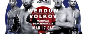 UFC Fight Night 127 Werdum vs. Volkov: Londyn, 17/03/2018
