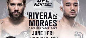 UFC Fight Night 131 Rivera vs. Moraes: Utica, 01/06/2018