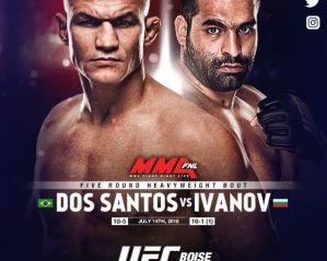 UFC Fight Night 133 dos Santos vs. Ivanov: Boise, 14/07/2018