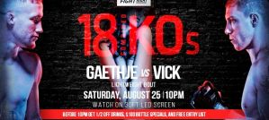 UFC Fight Night 135 Gaethje vs. Vick: Lincoln, 25/08/2018