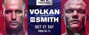 UFC Fight Night 138 Volkan vs. Smith: Moncton, 27/10/2018