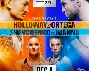 UFC 231 Holloway vs. Ortega: Moncton, 08/12/2018