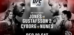 UFC 232 Jones vs. Gustafsson 2: Inglewood, 29/12/2018