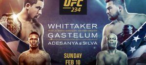 UFC 234 Adesanya vs. Silva: Melbourne, 10/02/2019