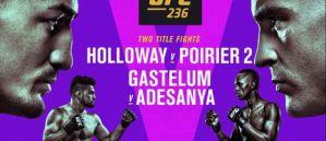 UFC 236 Holloway vs. Poirier 2: Atlanta, 13/04/2019