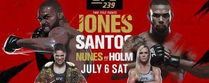 UFC 239 Jones vs. Santos: Paradise, 06/07/2019