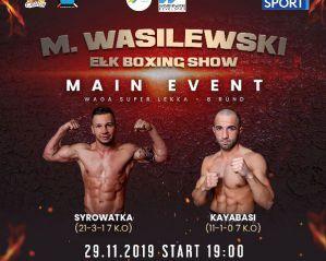"""Gala """"Wasilewski Ełk Boxing Show"""" 29 listopada w Ełku"""