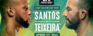 UFC Fight Night Santos vs. Teixeira: Las Vegas, 07/11/2020
