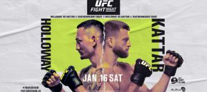 UFC Fight Night 184 Holloway vs. Kattar: Abu Dhabi, 16/01/2021