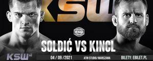 KSW 63 Soldić vs Kincl: Warszawa, 04/09/2021