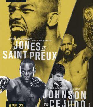 UFC 197 Jones vs Saint Preux: Las Vegas, 23/04/2016