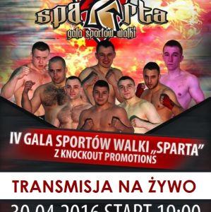 IV Gala Sportów Walki ''Sparta'' w Ostrołęce! Transmisja live!