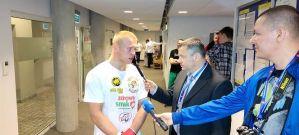 Piotr Kalenik po zwycięskiej walce na gali East Side Fight 2