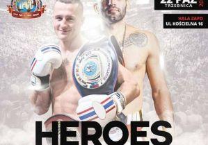 Niesamowity nokaut Bartosza Batry na gali Heroes Fight Time 2 w Trzebnicy