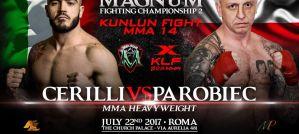 Łukasz Parobiec ulega Mauro Cerilli na Kunlun Fight MMA 14 /Magnum FC 2