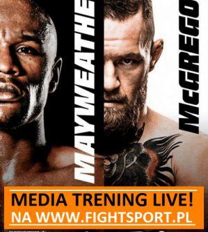 Media trening McGregora i Mayweathera Jr na żywo na FightSport.pl