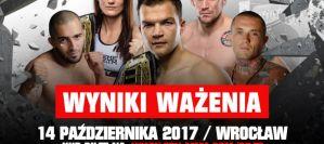 FEN 19 ''Bitwa o Wrocław'' - wyniki ważenia zawodników!