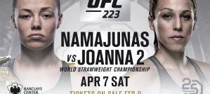 Rewanż Joanny Jędrzejczyk i Rose Namajunas na UFC 223 w Nowym Jorku