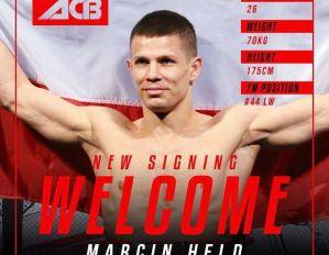 Marcin Held podpisał umowę z ACB