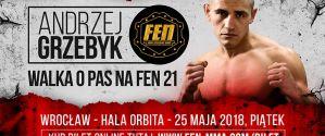 Andrzej Grzebyk będzie walczyć o pas mistrzowski na FEN 21