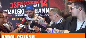 Karol Celiński odnosi zwycięstwo w K-1 na DSF Kickboxing Challenge 14! Wywiad!