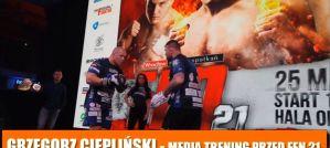 Grzegorz Ciepliński przed FEN 21: Plany kończą się po pierwszym ciosie na głowę! Wywiad!