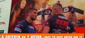Andrzej Grzebyk i Thiago Vieira face to face na media treningu przed FEN 21!