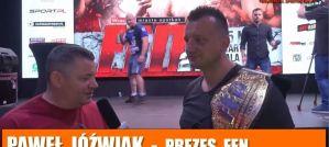 Paweł Jóźwiak przed FEN 21: Hala Orbita we Wrocławiu odleci! Wywiad!