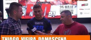Thiago Vieira Damascena przed FEN 21: Jesteśmy rywalami w klatce, a po walce możemy podać sobie ręce! Wywiad!