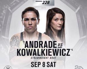UFC 228: Karolina Kowalkiewicz vs Jessica Andrade