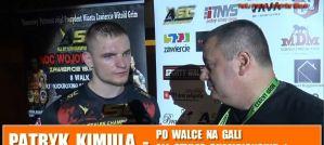 Patryk Kimula o pojedynku o pas WKN z Przemysławem Kierpaczem na ASC 1! Wywiad!