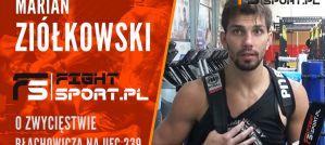 Marian Ziółkowski: Przed walką stawiałem na Luke Rockholda, to było piękne zwycięstwo Błachowicza! Wywiad!