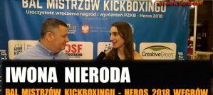 Iwona Nieroda podsumowuje 2018 i nagrodę Najlepszej Zawodowej Zawodniczki Kickboxingu! Wywiad!