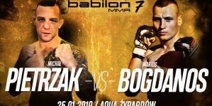 Pojedynek Michał Pietrzak i Marius Bagdonas dodatny do karty walk gali Babilon MMA 7