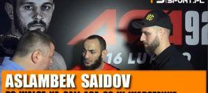 Aslambek Saidov po ACA 92: To była ciężka, ale wygrana walka! Wywiad!
