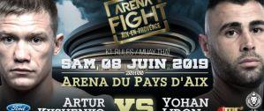 Artur Kyshenko vs Yohan Lidon na Arena Fight