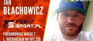 Jan Błachowicz po pokonaniu Rockholda na UFC 239: Kolejna walka jeszcze w tym roku przed grudniem! Wywiad!