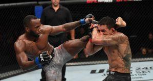 """UFC San Antonio: Leon Edwards wypunktował Dos Anjosa, 12 sekundowy nokaut Harrisa na Oleiniku, wygrana bialoruskiego """"Pitbulla""""! Wyniki & Video"""