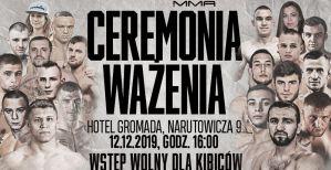 Ceremonia ważenia zawodników przed galą Babilon MMA 11 w Radomiu