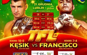 Cezary Kęsik w obronie pasa mistrzowskiego z Francisco Givago na TFL 19