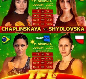 Katarzyna Biegajło i Olena Shydlovska w karcie walk gali TFL 19
