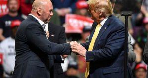 Prezydent Donald Trump spotyka się z szefami sportowych gigantów w tym UFC i WWE