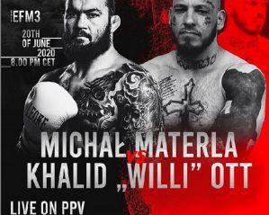 EFM 3: Michał Materla pokonuje Willy'go Otta i zdobywa pas  European Fight Masters! Wyniki