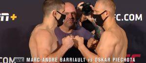 UFC Fight Night Las Vegas: Curtis Blaydes cięższy o 6 kg od Volkova! Oskar Piechota w limicie! Video