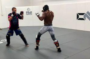 Kamaru Usman i Justin Gaethje w niesamowitym sparingu przed UFC 251! Video