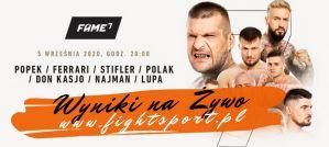 FAME MMA 7 Popek vs Stifler: wyniki na żywo!