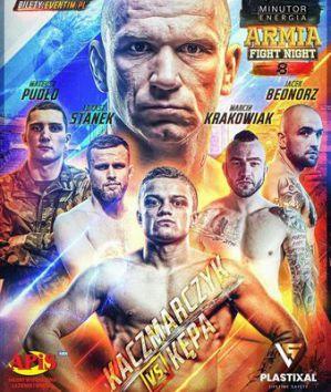 Armia Fight Night 8: Nowy mistrz Patryk Kaczmarczyk dusi Adriana Kępę! Wyniki